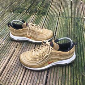 Nike air max 97 gold trainers size 5