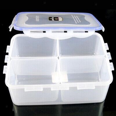 4-Grid Kitchen Snack Food Storage Box Case Container Fridge Crisper Cover M Food Storage Box Cover