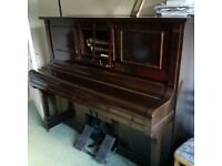 Steck Pianola with plenty of music rolls