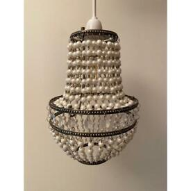 Laura Ashley Pearl and Crystal small pendant chandelier