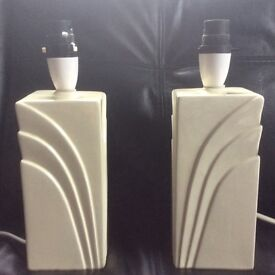 Pair of 1980s Art Deco style lamp bases