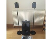 Tannoy SFX 5.1 speakers with stands and subwoofer
