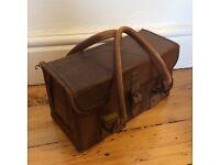 Vintage 50s leather and metal framed case