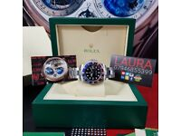 Package silver strap black face blue and red ceramic bezel Rolex submariner automatic sweeping