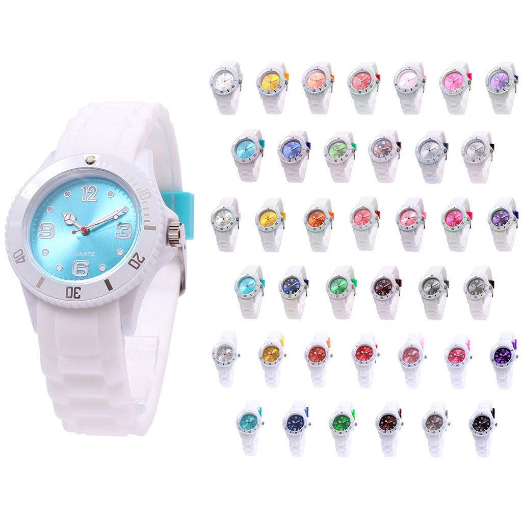 sv24 Watch Armbanduhr Bunte Silikon Uhr Damen Herren Quarz Uhren Farbwahl Neu