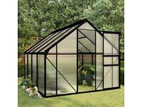 NEW REDUCED 8x6ft Polycarbonate Greenhouse Aluminium