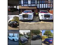 Wedding car hire London, luxury and super cars available for chauffeur or self drive