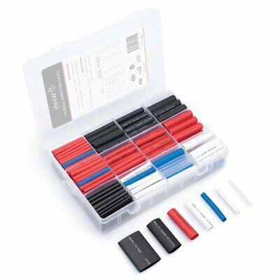 Wirefy 275 Pcs Heat Shrink Tubing Kit - 31 Dual Wall Tube W Adhesive - 5 Colors