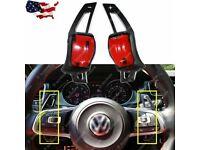 SW/_5 Schaltwippen Verlängerung Black  DSG Paddle Shifter Extensions VW Scirocco