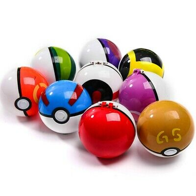 9PCS Collectible Pokeball Mini Poke Pocket Monster Action Figure Toy for Kids