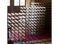2 Large & 1 Medium Heavy Duty Wine Storage Racks: 88, 80 & 32 Bottles (available singly or as a lot)