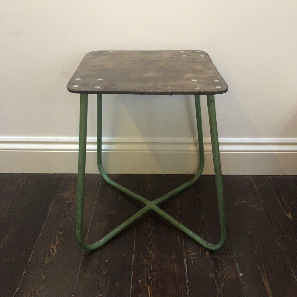 Awesome Vintage French Industrial Lab School Stool Mint Green Metal In Leytonstone London Gumtree Beatyapartments Chair Design Images Beatyapartmentscom