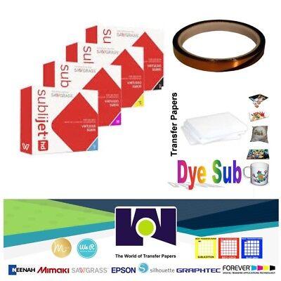 Sawgrass Ink Set Sg400sg800cmyk 100sh Dyesub Paper 1 Roll Heat Tape