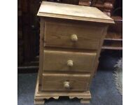 Small stripped pine chest