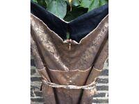Vintage gold/bronze and black dress