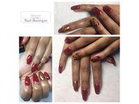 Nail treatments, gels, acrylics, fiberglass, silk repair, luxury manicures