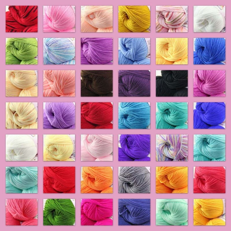 Sale 1 Balls x 50g DK Baby Soft Cashmere Silk Wool Hand Knitting Crochet Yarn