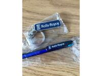 Rolls Royce key chain & Pen