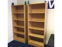 2 Office Bookshelves in good condition with shelves