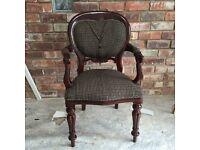 Unusual Harris tweed jacket chair