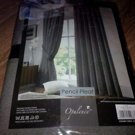 Brand new curtains & rail