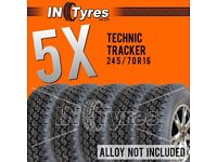 5x 245/70R16 Technic AT Tyres All Terrain Five 245 70 16 A/T 4x4