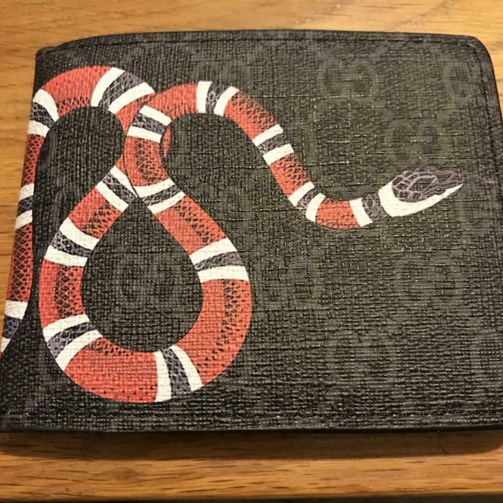 63452fa8bcee Mens Black Gucci Red Supreme Snake Wallet | in Central London ...