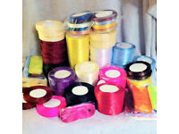 Wholesale joblot of RIBBON - 131 reels or 4,725yards for crafts / jewellery making