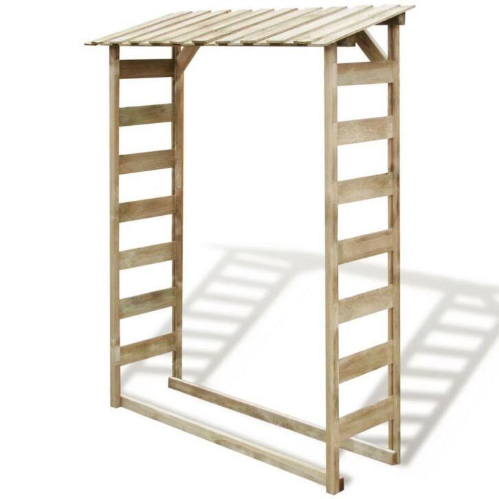 vidaXL Abri de stockage du bois 150x44x176 cm Pin imprégné F
