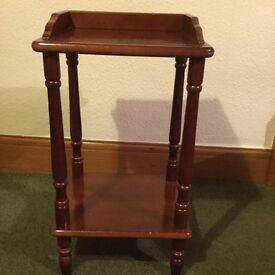 Mahogany bedside or occasional table