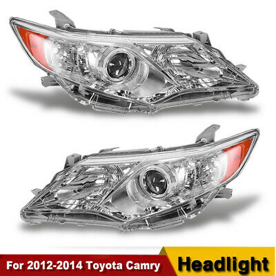 NEW For 2012 2013 2014 Toyota Camry Projector Headlights Headlamps Left+Right US