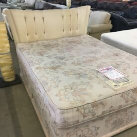 Silent Night 5' king size divan (mattress and base) with headboard