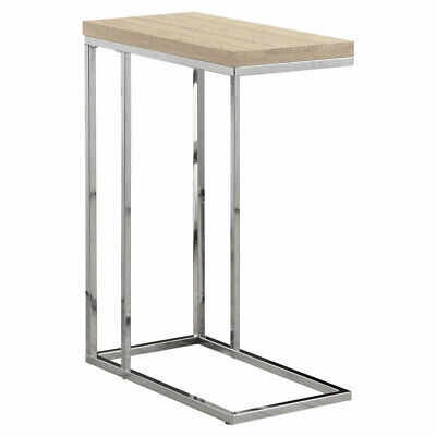 Monarch Reclaimed-Look/Chrome Metal Accent Table, 23.75-Inch