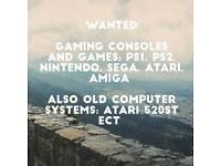 WANTED old computer and gaming systems consoles