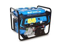WOLF 7000w 110v 230v Dual Voltage 15HP Petrol Engine ELECTRIC START Generator