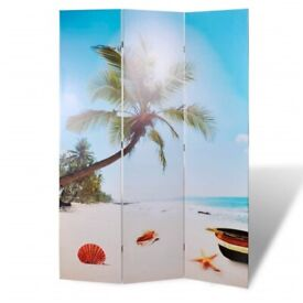 Folding Room Divider 120x170 cm Beach-240474