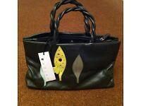 Radley Ivy Leaf Dark Green Grab Bag BNWT
