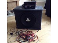 Alpine stereo and JL audio bass box and amp.