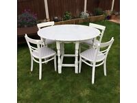 5 PIECE DINING SET, TABLE + 4 CHAIRS FOR SALE
