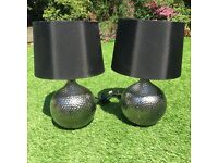 Chrome and Black (Bedside or Table) Lamps