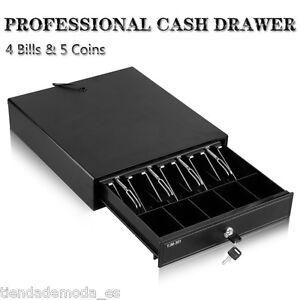 12V Heavy Duty Cash Till Drawer With 4 Bills 5 Coins Tray Removable Insert Shop