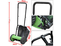 Hand Cylinder Mower Hand Push Manual Lawnmower Grass Cutter 30cm Cutting Width