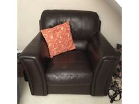 Large Faux leather armchair