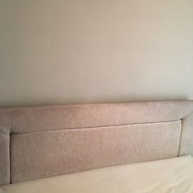 Archers Sleep Centre Cream Chenille double Ottoman Bed Base And Headboard (Mattress not included)