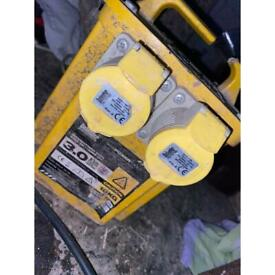 110 transformer yellow box