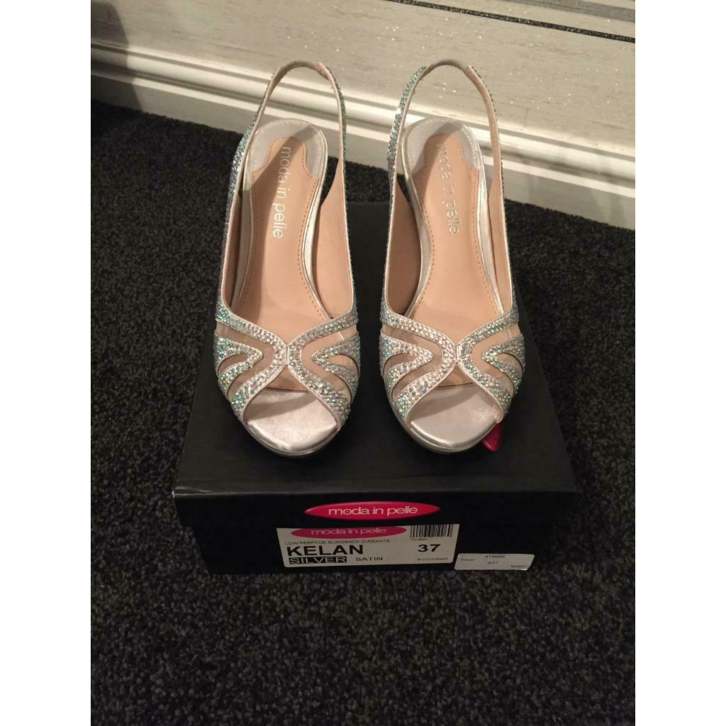 abf58cb4a9c61 Silver sparkle/diamanté heels size 4 SOLD | in Shotts, North ...