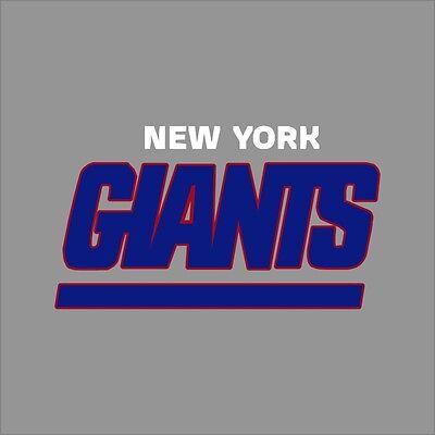 New York Giants #3 NFL Team Logo Vinyl Decal Sticker Car Window Wall Cornhole