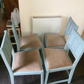 Beautiful shabby chic chairs.