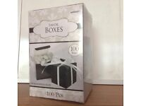 Black Favour Boxes - pack of 100 BRAND NEW