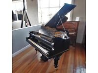 Black Polished Case Irmler Baby Grand Piano By Sherwood Phoenix Pianos